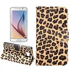 olcso Galaxy S6 Edge tokok-Case Kompatibilitás Samsung Galaxy Samsung Galaxy tok Kártyatartó Állvánnyal Flip Héjtok Leopárd minta PU bőr mert S7 edge S7 S6 edge