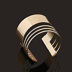 abordables Bijoux pour Femme-Femme Manchettes Bracelets - Plaqué or Personnalisé, Rétro, Style Simple Bracelet Doré Pour Regalos de Navidad Mariage Soirée