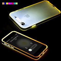 tanie Etui do iPhone-Kılıf Na Apple iPhone 6 iPhone 6 Plus Światło LED Przezroczyste Czarne etui Solid Color Miękkie TPU na iPhone 6s Plus iPhone 6s iPhone 6