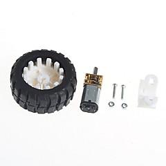 お買い得  ロボット&アクセサリー-ロボットゴムタイヤホイールブラケットとギヤードモーター(6v100ターン)