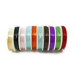 beadia abalorios tramo cordón de cristal pulsera collar de hilo de alambre de bricolaje color multi 1mm elástica 10 rollos (5m apx /