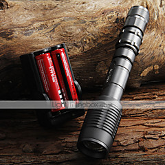 LED Flashlights / Torch Handheld Flashlights/Torch LED 2000 lm 5 Mode Cree XM-L T6 Adjustable Focus Zoomable for Camping/Hiking/Caving