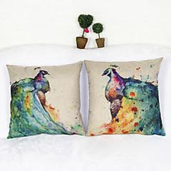 készlet 2 páva pihenő párna tok párnahuzat kanapé otthoni dekoráció párnahuzat