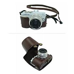 お買い得  ケース、バッグ & ストラップ-オリンパスのE-PL7(アソートカラー)用のショルダーストラップ付きdengpin®保護取り外し可能な革製カメラケースバッグカバー