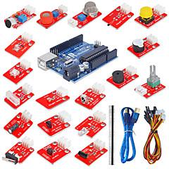 bloques electrónicos de sensores kit con placa de desarrollo r3 uno (nuevo)