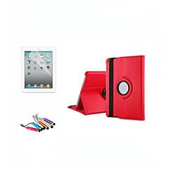 abordables Liquidación-DE JI Funda Para Apple con Soporte / Activado / Apagado Automático / Rotación 360º Funda de Cuerpo Entero Un Color Dura Cuero de PU para iPad Air / iPad 4/3/2 / iPad Mini 3/2/1 / iPad (2017)