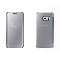 Varten Samsung Galaxy kotelo kotelot kuoret Ikkunalla AutomAutomaattinen auki / kiinni Peili Flip Kokonaan peittävä Etui Yksivärinen Kova