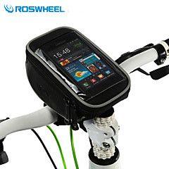 ROSWHEEL Cell Phone Bag Bike Handlebar Bag 5 inch Multifunctional Touch Screen Cycling for Samsung Galaxy S6 LG G3 Iphone 5/5S Iphone 8