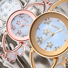 Flower Smart Dial Luxury Rose Gold Silver Women Lady Dressed Fashion Wrist Quartz Bracelet Bangle Watch Skeleton Band Cool Watches Unique Watches