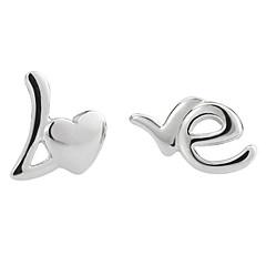 preiswerte Ohrringe-Damen Ohrstecker - Sterling Silber, Silber Silber Für Hochzeit / Party / Alltag