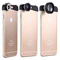 voordelige Weekaanbiedingen-apexel 3-in-1 180 graden fish eye lens + 10x macro lens en 5x super telelens lens kit voor de iPhone 6 plus
