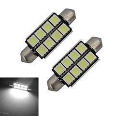 preiswerte LED-Birnen-2pcs 150-170lm Girlande Lichtdekoration 8 LED-Perlen SMD 5050 Kühles Weiß 12V