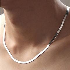 Naisten Kaulaketjut Circle Shape Sterling-hopea Muoti pukukorut Korut Käyttötarkoitus Party Päivittäin Kausaliteetti Urheilu