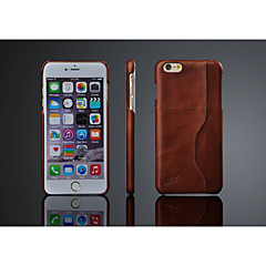 Voor iPhone 8 iPhone 8 Plus iPhone 6 Plus Hoesje cover Achterkantje hoesje Hard Echt leer voor iPhone 7s Plus iPhone 8 iPhone 6s Plus