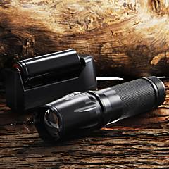 W-878 Linternas Llavero LED 2200 Lumens 5 Modo Cree XM-L T6 Enfoque Ajustable Empuñadura Anti Deslice Zoomable para