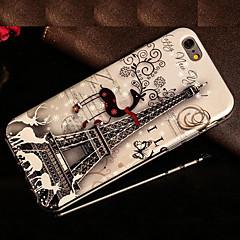 Для Кейс для iPhone 5 С узором Кейс для Задняя крышка Кейс для Эйфелева башня Мягкий TPU для iPhone SE/5s iPhone 5