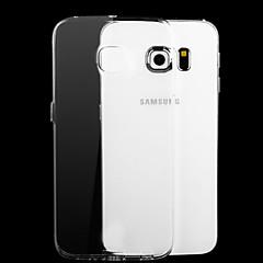Para Funda Samsung Galaxy Carcasa Funda Transparente Cubierta Trasera Funda Color sólido TPU para Samsung S6