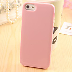 For iPhone 5 Case Case Cover Other Back Cover Case Solid Color Soft TPU for iPhone SE/5s iPhone 5