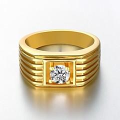 Férfi Női Karikagyűrűk jelmez ékszerek Arannyal bevont Ékszerek Kompatibilitás Esküvő Parti Napi Hétköznapi Sport