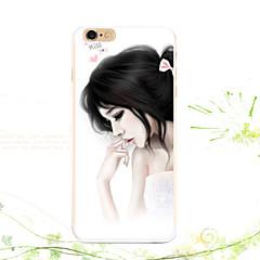 Недорогие Кейсы для iPhone-Для Кейс для iPhone 5 С узором Кейс для Задняя крышка Кейс для Соблазнительная девушка Мягкий TPU для iPhone SE/5s iPhone 5
