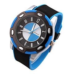 preiswerte Tolle Angebote auf Uhren-Herrn Sportuhr Quartz Silikon Band Analog Schwarz - Schwarz / Blau