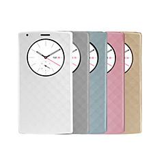 용 LG케이스 스탠드 / 윈도우 케이스 풀 바디 케이스 기하학 패턴 하드 인조 가죽 LG LG G4