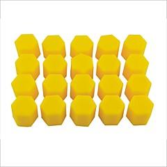 abordables Piezas para el Coche-20 piezas de la rueda de silicona de 17 mm auto del coche cubre neumáticos hub tapas roscadas polvo