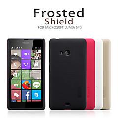 Недорогие Чехлы и кейсы для Nokia-Кейс для Назначение Nokia Lumia 540 Nokia Кейс для Nokia Матовое Кейс на заднюю панель Сплошной цвет Твердый ПК для