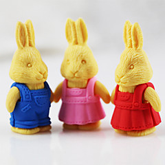 Easter Retro Rabbit Detachable Rubber Eraser (Random Color)