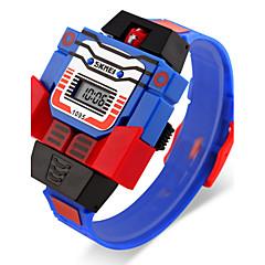 お買い得  メンズ腕時計-SKMEI 男性用 リストウォッチ クォーツ カレンダー LCD ラバー バンド デジタル カトゥーン ブルー / レッド / グレー - イエロー レッド ブルー 2年 電池寿命 / Maxell626 + 2025
