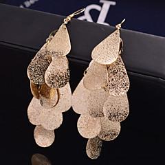 Mulheres Brincos Compridos Bijuterias Destaque Festival/Celebração Jóias de Luxo Personalizado Casamento bijuterias Liga Formato de Folha