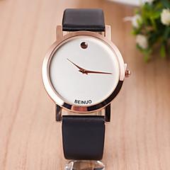 abordables Novedades-Mujer Reloj de Moda Cuarzo Piel Banda Negro / Marrón - Negro Marrón
