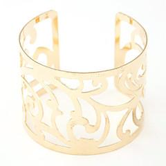 Γυναικεία Χειροπέδες Βραχιόλια Μοντέρνα Προσαρμόσιμη Ανοικτό Ευρωπαϊκό Κράμα Ασημί Χρυσαφί Κοσμήματα ΓιαΠάρτι Καθημερινά Causal