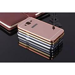 お買い得  Samsung その他の機種用ケース/カバー-ケース 用途 Samsung Galaxy Samsung Galaxy ケース 耐衝撃 / メッキ仕上げ / ミラー バックカバー ソリッド メタル のために J7