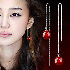 preiswerte Ohrringe-Damen Achat Tropfen-Ohrringe - Schwarz / Rot Für Alltag Normal Sport