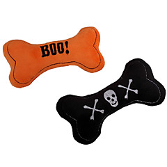 Cat Toy Dog Toy Pet Toys Chew Toy Plush Toy Squeak / Squeaking Bone Halloween Textile For Pets