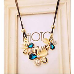 preiswerte Halsketten-Damen Kristall / Katzenauge Chrysoberyl Anhängerketten  -  Opal, Diamantimitate Schmetterling, Tier Luxus, Modisch Farbbildschirm Modische Halsketten Für