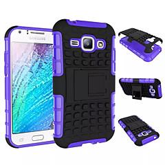 お買い得  Samsung その他の機種用ケース/カバー-ケース 用途 Samsung Galaxy Samsung Galaxy ケース 耐衝撃 スタンド付き バックカバー 鎧 PC のために Young 2 J1 Grand Prime Core Prime Ace 4
