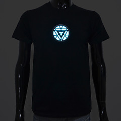 LED T-shirts Sound activated LED Light Cotton Novelty High Quality