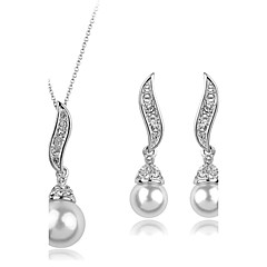 Women's Jewelry Set Luxury Cute Party Fashion Party Special Occasion Anniversary Birthday Gift Pearl Imitation Pearl Cubic Zirconia