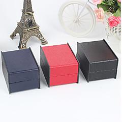 Cutii de Bijuterii Hârtie 1 buc Negru / Roșu / Albastru