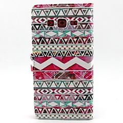 Mert Samsung Galaxy tok Pénztárca / Kártyatartó / Állvánnyal / Flip Case Teljes védelem Case Vonalak / hullámok Műbőr SamsungCore Prime /