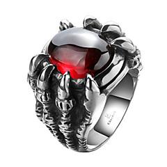 رخيصةأون -للرجال خاتم مكعب زركونيا شخصية والمجوهرات الفولاذ المقاوم للصدأ زركون مكعبات زركونيا الصلب التيتانيوم مجوهرات من أجل الهالووين يوميا