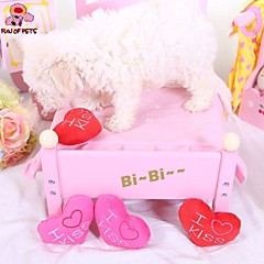 Dog Toy Pet Toys Chew Toy Plush Toy Squeak / Squeaking Heart Textile For Pets