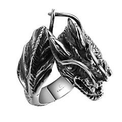 Кольцо Нержавеющая сталь Титановая сталь В форме черепа Серебряный Бижутерия Halloween Повседневные Спорт 1шт