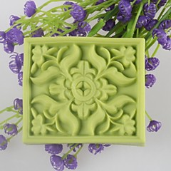 Square Flower Shaped Soap Molds Mooncake Mould Fondant Cake Chocolate Silicone Mold, Decoration Tools Bakeware
