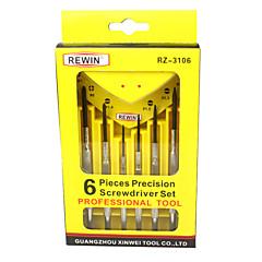 rewin® 도구 6PCS 나사 드라이버를 설정 손 도구 세트를 설정 시계
