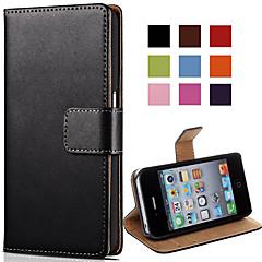 Недорогие Кейсы для iPhone 4s / 4-Кейс для Назначение iPhone 4/4S Apple Чехол Твердый Кожа PU для iPhone 4s/4