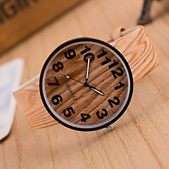お買い得  大特価腕時計-女性用 リストウォッチ クォーツ ブラウン / カーキ ホット販売 ハンズ レディース ヴィンテージ ファッション ウッド - 4 # 5 # 6 # 1年間 電池寿命 / Tianqiu 377