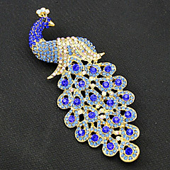 cheap Brooches-Women's Brooches - Gold Plated Peacock Vintage, Fashion Brooch Royal Blue For Party / Special Occasion